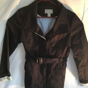 Women's H & M dress jacket with wrap around belt